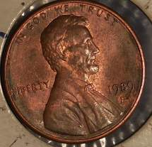 Silver Penny Value 1989 - Year of Clean Water