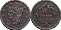 1839 Braided Hair Large Cent Photos, Mintage ...