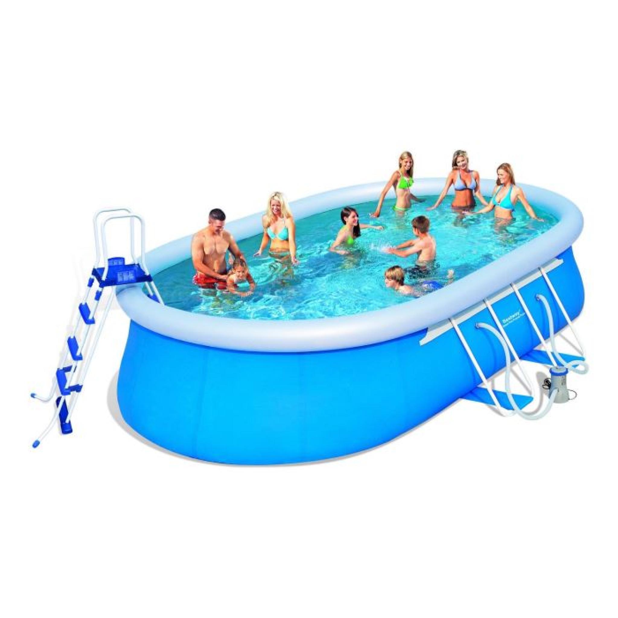 BESTWAY Kit Piscine ovale autoportante 549x366x122 m  AchatVente piscine hors sol pas cher