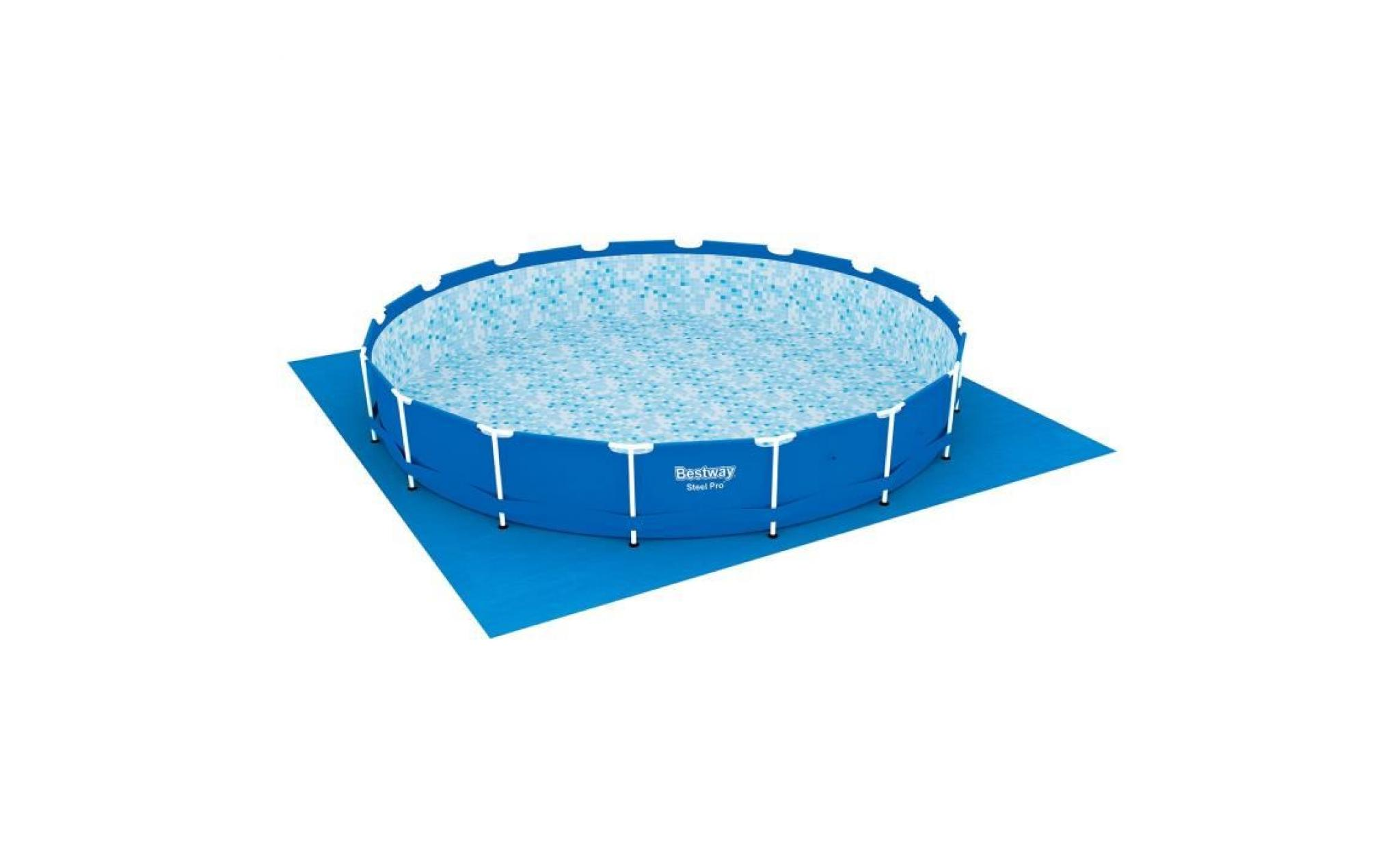 bestway tapis de sol pour piscine ronde fast set pools ou steel frame pools o 487 cm achat vente bache piscine pas cher coindujardin com