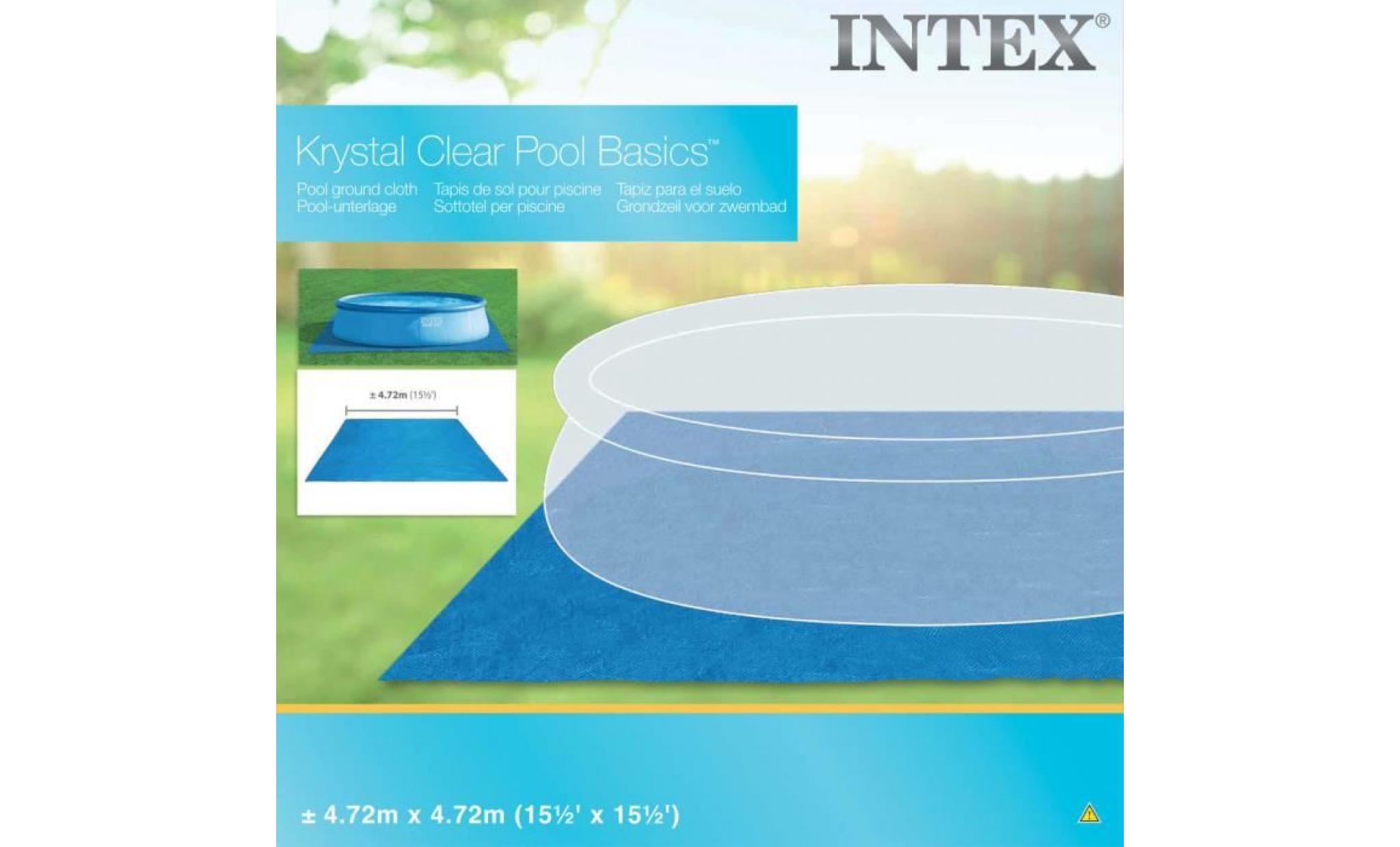 intex tapis carre de sol pour piscine 472 x 472 cm 28048 achat vente bache piscine pas cher coindujardin com