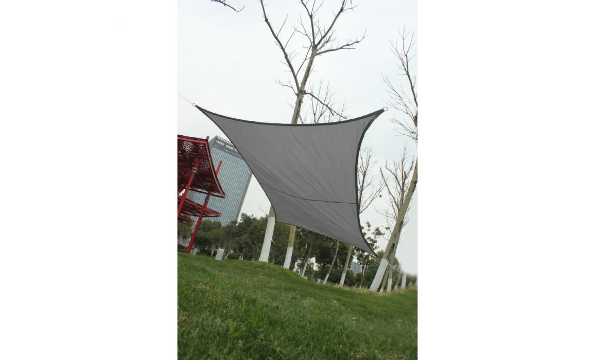 protection des rayons uv et tissu impermeable voile dombrage pour exterieur terrasse jardin anthracite voile dombrage rectangulaire 2 2 m beige sylc voile dombrage parasols et stores voiles d ombrage