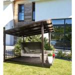Terrasse Couverte En Alu Et Polycarbonate Taupe Achat Vente Pergola En Aluminium Pas Cher Coindujardin Com