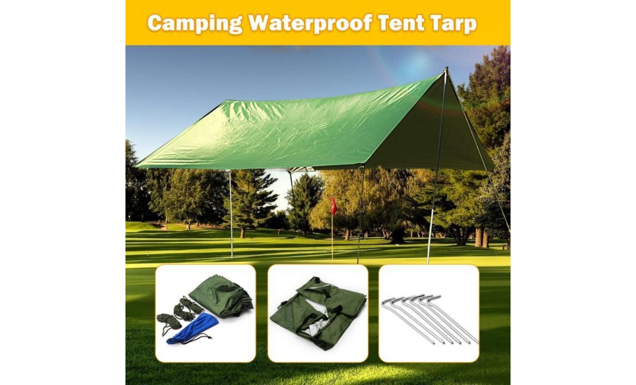 tempsa 3x3m toile solaire ombrage bache pluie tarp pr tente camping auvent etanche achat vente voile ombrage pas cher coindujardin com