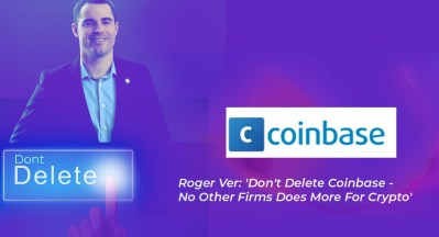CEO of Bitcoin.com with Coinbase
