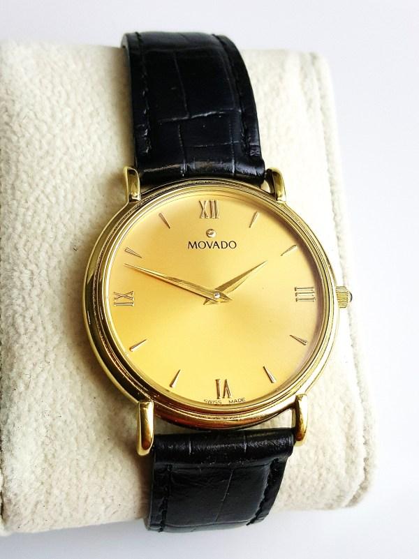 Movado Museum Watch 87 E4 0885 Sapphire Crystal Swiss