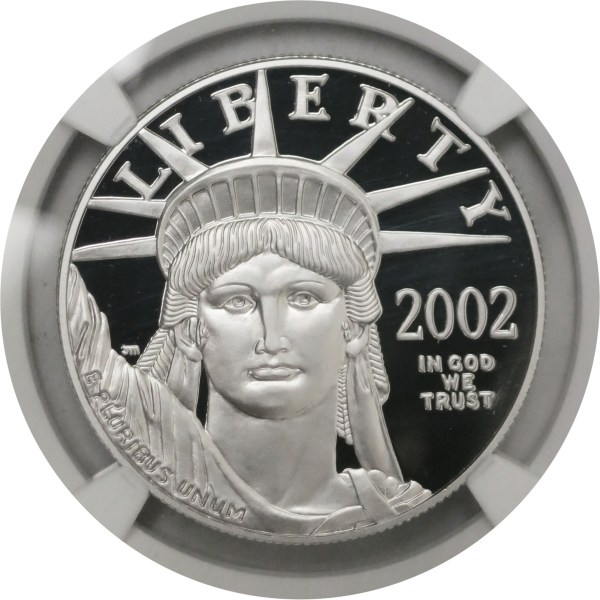 2002 100 Proof American Platinum Eagle 1 Oz .9995 Fine