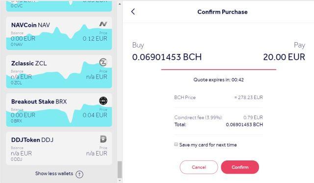 Buy Bitcoin Cash online