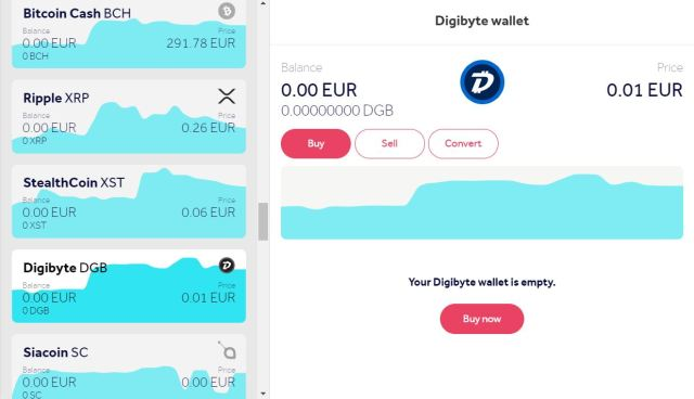 Buy Digibyte (DGB) online using a credit card