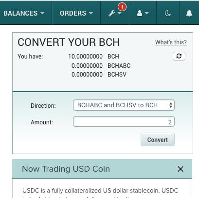 Poloniex Bitcoin Cash BCH Pre-Fork