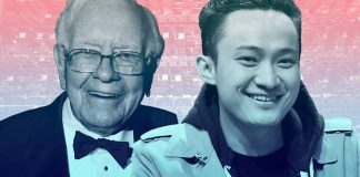 Justin Sun ve Warren Buffett Tron
