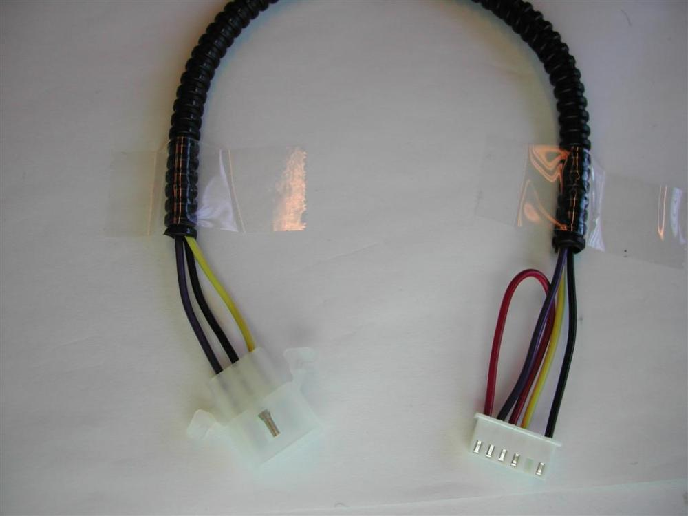 medium resolution of this wire harness has a 6 pin jst connector on one end and a 3 pin molex connector on the other end