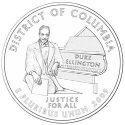 D.C. Quarter Design of Duke Ellington Wins, US Mint