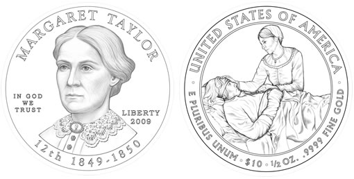 2009 First Spouse Gold Coin Designs Unveiled by US Mint