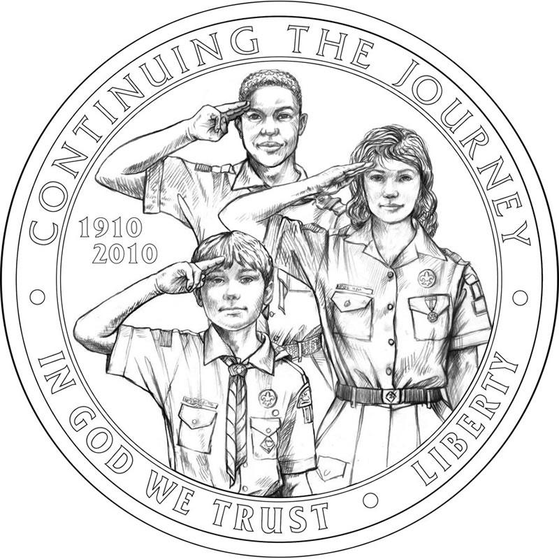 US Mint Reveals BSA Silver Dollar Commemorative Coin