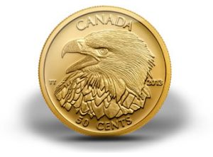 2013 Bald Eagle 1 25 Oz Gold Coin 12th In Canadian Series