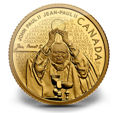 Pope John Paul II 2014 Canadian $25 Gold Coin