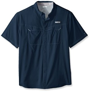 Columbia Men's Sportswear Low Drag Off Shore Short Sleeve Shirt, Dark Mountain, 2X