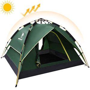 Camel Auvent Automatique de dôme Camper Les tentes hydrauliques imperméables 2-3Personnes