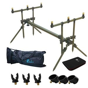 Carp Fishing Goal Post Rod Pod with Bank Sticks,Rod Rests and Carry Case