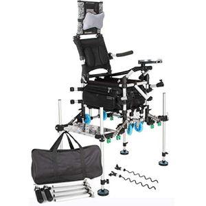 Multifonction Chaise de Pêche Grand Poids Lourd Portable Solide Stable Devoir Pliant Chaise de Camping Deluxe pour en Plein Air