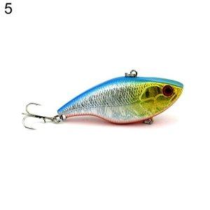 qingsb Leurre de pêche en Plastique pour appâts flottants avec Crochets tranchants, 5#