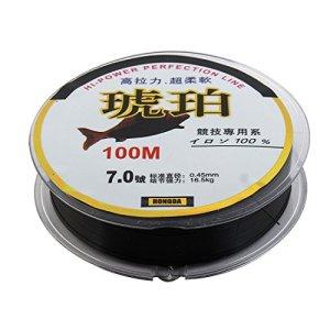 sourcing map 0.45mm Bobine câble Mono-Filament Noir 100m Ligne pêche