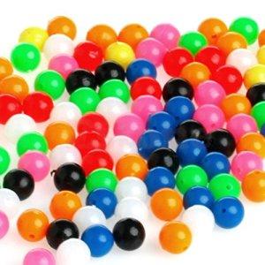 Perles de 6mm pour la pêche, Multicolore X200par lot. Idéal pour bas de ligne, mer, bateau et plage Pêche