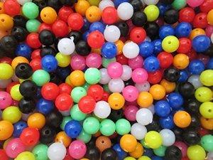 WSB Perles de 8mm pour la pêche, Multicolore X100par lot. Idéal pour bas de ligne, mer, bateau ou de plage Pêche