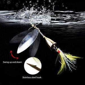 Amorce Artificielle, Alexisx Leurre de Pêche avec Treble Crochet Artificiel Souris Wakebait Appât de Poisson – Argent, Size:1Pc;