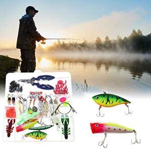 Generic ER Box Kit de leurres de pêche Complet avec appâts pour pêche en Eau Douce 101 pièces