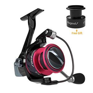Magreel Moulinet de Pêche Bobine Fixe Roulement Fluide 9+1 Leger Puissant pour pêche en Mer en Eau Douce Etang Rivière 4.9:1 CS5000