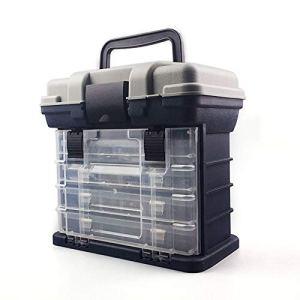 Daxey – 27 * 17 * 26cm 5 Couche PP + ABS Big boîte de pêche de Haute qualité en Plastique poignée pêche boîte pêche de la Carpe Outils Accessoires de pêche