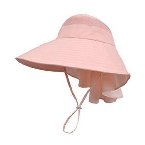 SCJS Hat Sun crème Solaire Tourisme Estival de Plein air, Grand Capuchon Creux Anti-UV, Respirant, Pliant (Couleur: Orange Clair)