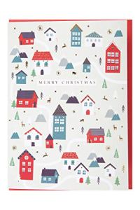 Mountain Warehouse Merry Christmas Houses Card Beige Taille Unique