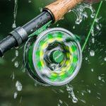 Ligne de pêche tressée Piscifun pour pêche à la mouche, jaune fluo, 20lb/100yd
