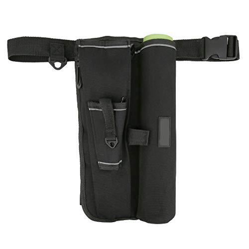 New Black Cloth Ceinture de pêche avec dos en maille respirante Taille réglable, Noir