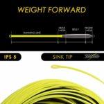 SF Hi-Viz Ligne de pêche à la mouche avec pointe flottante 100 m WF 3 4 5 6 7 8 9 W IPS 3.5, Citron noir., WF10S/S5 100FT IPS5