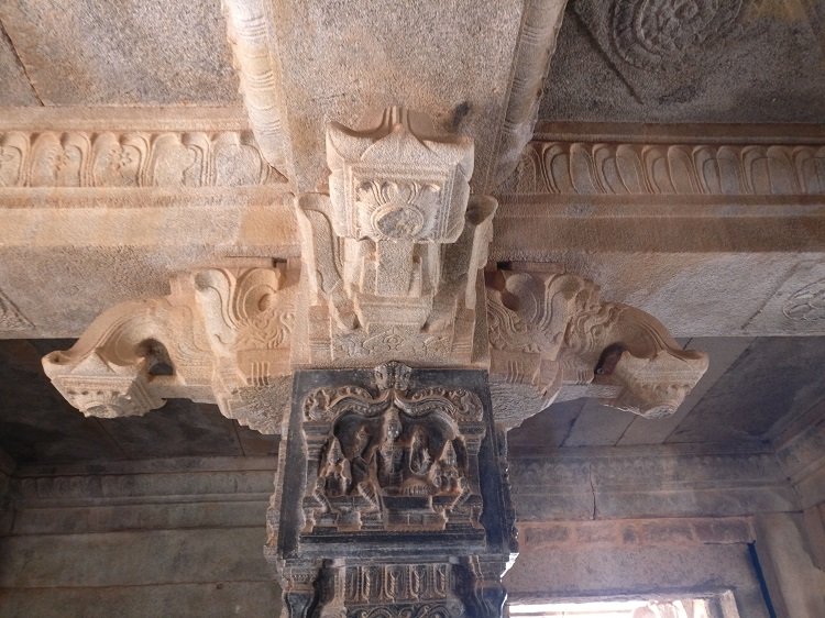 Pillar inside Hazara Rama Temple