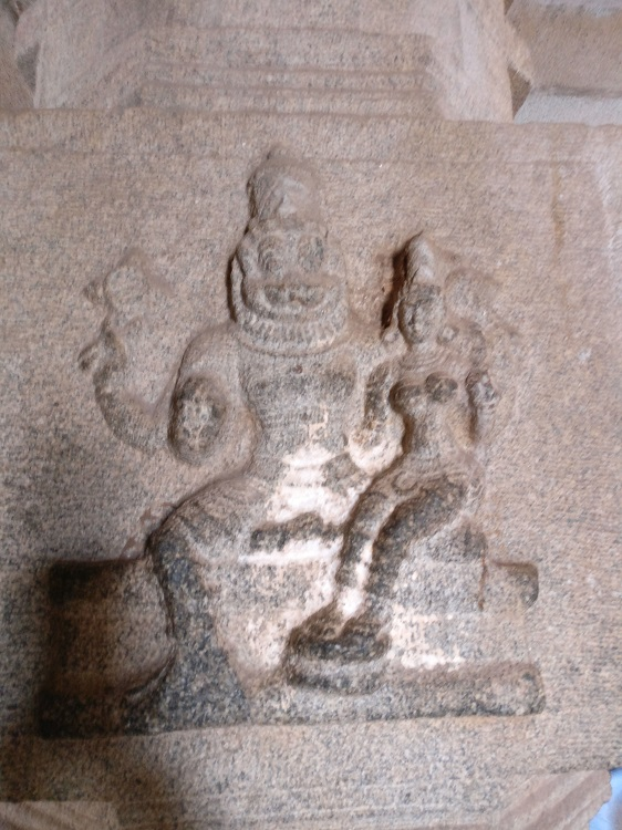 Lakshmi Narasimha etched on one of the pillars in Vithala Temple