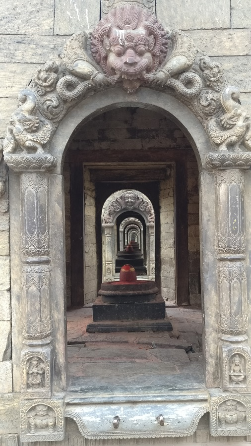 Shiv lingas at the ghat at Pashupatinath temple complex