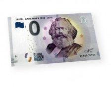 Καρλ Μαρξ, Αναμνηστικό ΕυρωΧαρτονομισμα,0 Ευρώ, Γερμανία 2018.