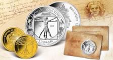 Βιτρουβιος Άνδρας, Ντα Βιντσι, 10$, Ναουρου, Χρυσος, 24Κ,Proof, 2019
