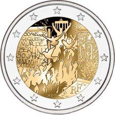 2 Ευρω, 30 ετη απο την πτωση του τειχους του Βερολίνου, Γαλλία,2019