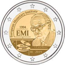 2 Ευρώ, Βέλγιο, European Monetary Institute,2019