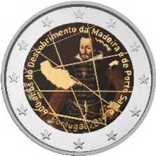 2 Ευρω, έγχρωμο, 600 έτη ανακάλυψη της Μαδειρα,Πορτογαλία,2019
