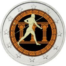 2 Ευρώ, Έγχρωμο, Ελλάδα, 2500 χρόνια από τη Μάχη του Μαραθώνα, 2010