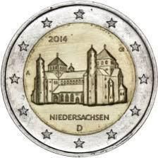 2 Ευρώ, Γερμανία, Αναμνηστικό, Ναός του Αγ Μιχαήλ, 2014