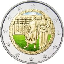 2 Ευρώ, Έγχρωμο, 200 χρόνια της Εθνικής Τράπεζας της Αυστρίας, Αυστρία, 2016