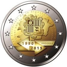 2€, 25 Χρόνια Τελωνειακής Ένωσης με την Ε.Ε., Ανδόρρα 2015